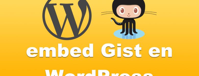 Embed Gist Github en WordPress