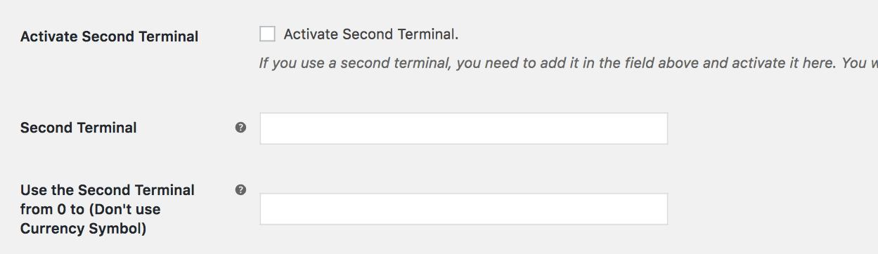 Segundo terminal Redsys WooCommerce