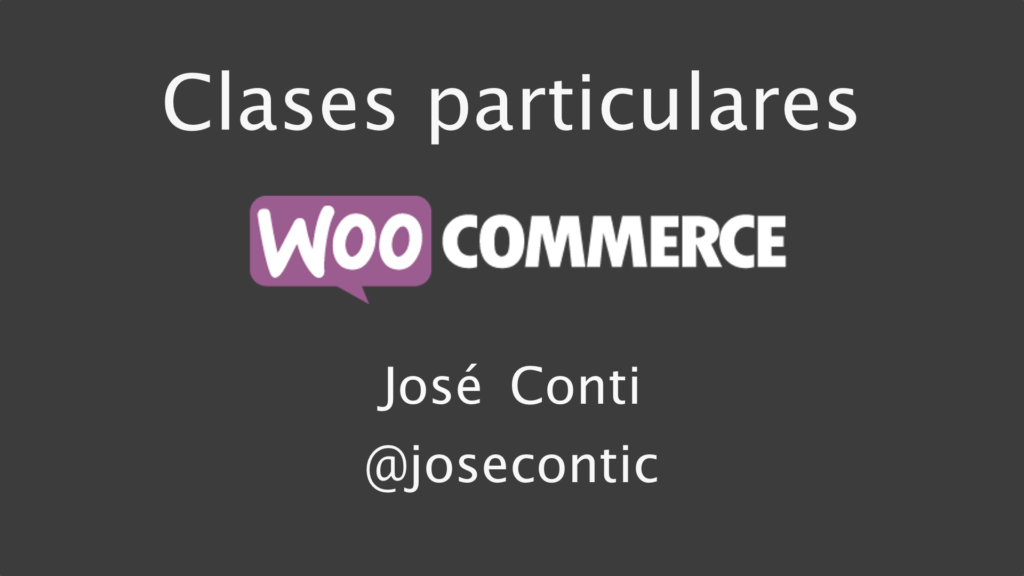 Clases particulares de WooCommerce en Barcelona